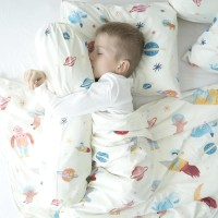 Mooi Sarung Guling Toddler Space Luar Angkasa