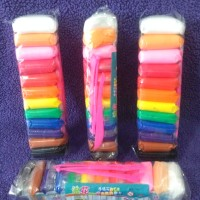 NEW 12 COLOUR POLYMER CLAY (IMPORT) - Mainan clay - SOUVENIR ULTAH