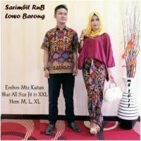 Baju Pesta Batik Couple / Sarimbit Batik Jelita Lowo Barong / Kebaya S