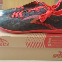 Sepatu Futsal Specs Quark In Black Emperor Red ORI - 400720