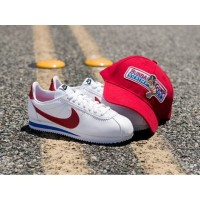 nike cortez forest gump white red