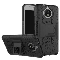 Hard Soft Case Moto E4 Plus Casing HP Cover Armor Stand Silikon Rugged