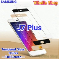 Tempered Glass Warna SAMSUNG J7 Plus FULL SCREEN COVER J 7 Plus