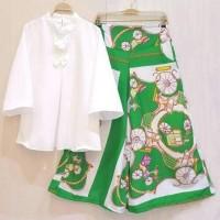 Jual Baju Setelan Celana Kulot Motif Batik Busana Fashion Muslim