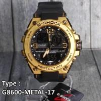 Jual Model Baru !!! G-Shock Gun Metal Besi Casio G8600 Jam Tangan Pria