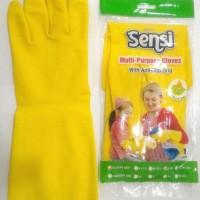 Promo Sarung Tangan Karet Glove Kuning Sensi Latex Cuci Piring