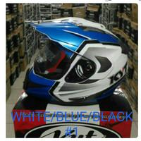 helm KYT ENDURO R #1 WHITE/BLUE/BLACK