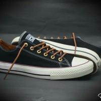 sepatu snekaers unisex converse all star low black prmeium indonesia