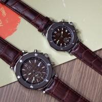 Jam Tangan Pria Wanita Couple Gc Guess Collection Date Leather Strap