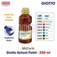 GIOTTO SCHOOL PAINT - BROWN - 250 ml - 530828