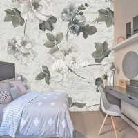 Wallpaper Dinding Custom Murah - Wallpaper Custom Printing Motif Bunga