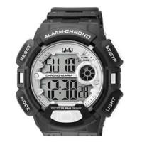 Jam Tangan Pria Cowok Q&Q QQ Digital M132J008Y Chrono Alarm Original