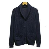 CARDIGAN / JAKET GU By Uniqlo Mens Knitted Shawl Cardigan Original