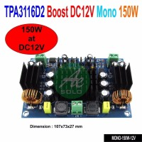 terbaik Ultra Power Mono Power Amplifier Class D TPA3116D2 150W Power