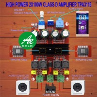terbaik 2x100W High Power Class D Digital Power Amplifier Board Kit M