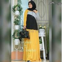 Dress Model Gamis Syari Muslimah Wanita Dewasa Terbaru S06