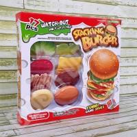 Stacking Burger Tower Game Challenge - Mainan Susun Tumpuk Hamburger