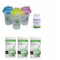 Shake Herbalife/HERBALIFE/Toserasera--( 3 CHOCO MINT+ FIBER+ GELAS )