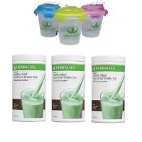 Shake Herbalife/HERBALIFE/Toserasera--( 3 CHOCO MINT + 1 GELAS )