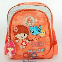 Tas Ransel Sekolah Anak TK Paud Alto Star Original 40838S Orange