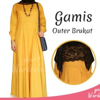 1Set Gamis Outer Brukat | Brokat | Long Maxi Dress | Baju Muslim Syari