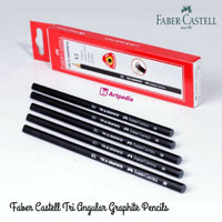 Faber Castell Tri Graphite 2B Black Pencil - Satuan