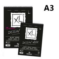 Canson XL Black Dessin Noir A3 (Black Drawing Pad)