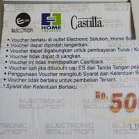 Voucher Belanja Electronic Solution Home Solution Castilla, Hadiah