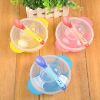 Jual alat makan bayi mpasi baby piring mangkuk sendok silicon bpa free Murah