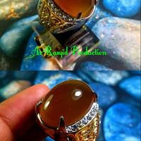 Cincin Batu Akik Anggur Solar Pacitan with Ring Titanium