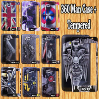 Samsung Galaxy J1 Ace //J3 Pro // J7 Pro 360 Man Case + Tempered Glas