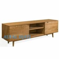 meja rak tv buffet cabinet drawer minimalis top jati jepara