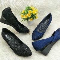 Harga wedges takara brokat sepatu wedges import wanita murah kerja | Pembandingharga.com