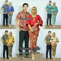 Couple Stelan Kebaya Nirwana Morena / Sarimbit Batik Pesta Ruffle
