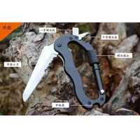 carabiner multifunction 5 in 1 mountaineering buckle with knife