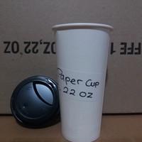 paper cup 22oz + Lid hot / gelas kertas 22 oz plus tutup