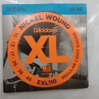 Senar gitar GUITAR STRINGS merek DADARIO tipe EXL 110