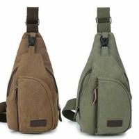 Tas Selempang Tas Slempang Pria sling bag backpack kanvas flish