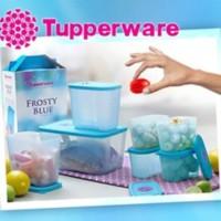 Tupperware Frosty Blue Paket Kado Hadiah Untuk Ibu Kece