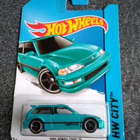 hot wheels 90 honda civic ef green