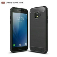 Case Carbon Fiber Ipaky Samsung J2 Pro 2018 Softcase TPU