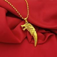 Harga pendant bandul kalung gambar singa vietnam wrna gold untuk pria | Pembandingharga.com