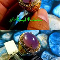 Cincin Batu Akik Natural Kecubung Chalcedony With Ring Titanium
