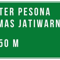 Rambu petunjuk Jalan Raya Lalu Lintas dan peringatan Arah 120x60