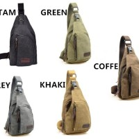 n Tas selempang tas slempang pria sling bag backpack kanvas FLISH