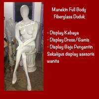 Manekin Full Body Wanita Duduk Fiberglass