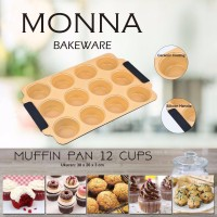 Jual MONNA BAKEWARE SIGNORA :  Muffin Pan 12cups Murah
