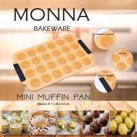 Jual MONNA BAKEWARE SIGNORA : Mini Muffin Pan 24 cups Murah