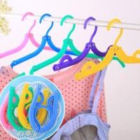 Hanger Baju Lipat Jemuran Portable Laundry Gantungan jemur Pakaian Top