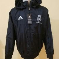 Jual Jaket Parasut Waterproof Bulak Balik Real Madrid Hitam Grade Ori